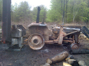 [tractor and processor burnt out ]